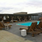 Barker Block pool with chairs
