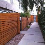 Barker block outside walkway