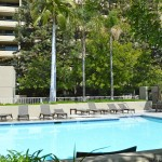 Pool area at The Skyline Condominiums