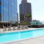 1100 Wilshire pool with building
