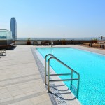 Pool with Ritz in background at the Sky Deck 1100 Wilshire
