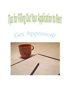 Get Approved Tips for Filling Out Your Application to Rent